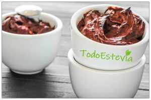 mousse de chocolate con estevia