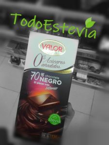 chocolate sin azucar valor estevia