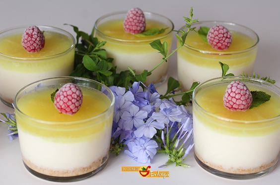 Vasitos de Cheesecake de Piña sin azúcar